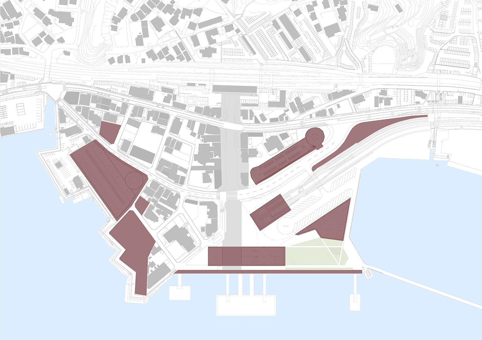 Barreiras de proteção sísmica e zonas de evacuação